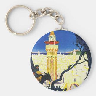 Tunis ~ L'Orient Aux Portes de Marseille Basic Round Button Key Ring