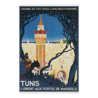 Tunis Vintage Travel Poster