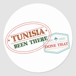 Tunisia Been There Done That Classic Round Sticker