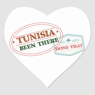 Tunisia Been There Done That Heart Sticker