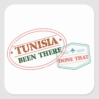 Tunisia Been There Done That Square Sticker