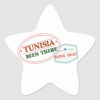 Tunisia Been There Done That Star Sticker