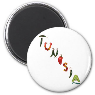 Tunisia Chili Peppers Magnet