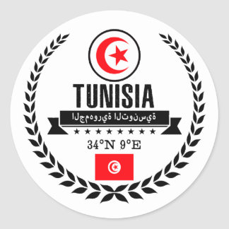 Tunisia Classic Round Sticker