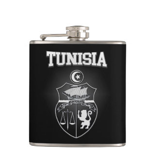 Tunisia Emblem Hip Flask