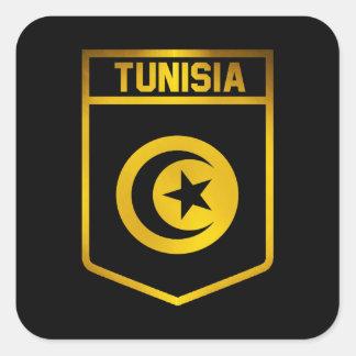 Tunisia Emblem Square Sticker