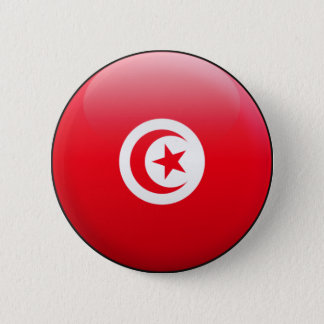 Tunisia Flag 6 Cm Round Badge