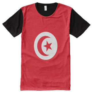 Tunisia Flag All-Over Print T-Shirt