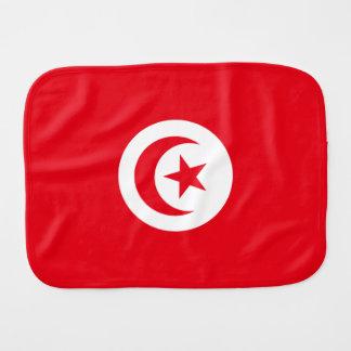 Tunisia Flag Burp Cloth