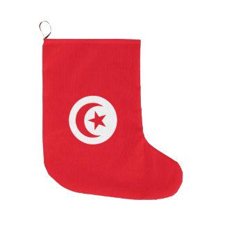 Tunisia Flag Large Christmas Stocking