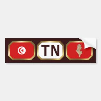 Tunisia Flag Map Code Bumper Sticker
