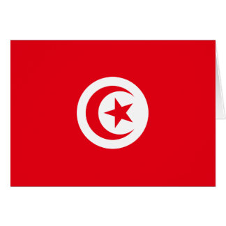 Tunisia Flag Note Card