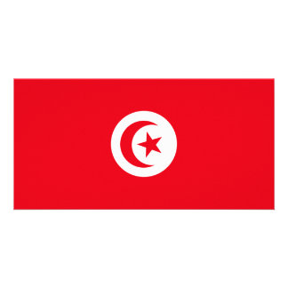 Tunisia Flag Photo Card Template