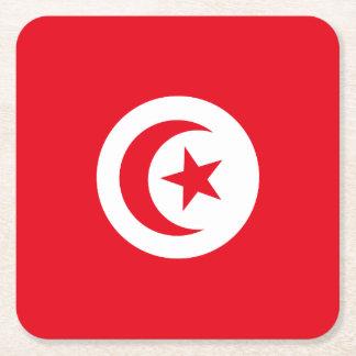 Tunisia Flag Square Paper Coaster