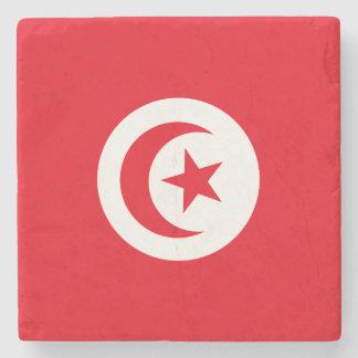 Tunisia Flag Stone Coaster