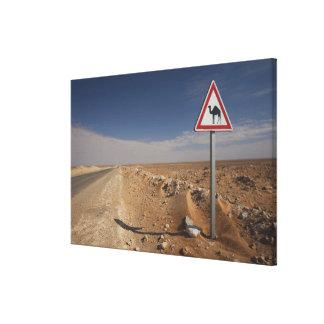Tunisia, Ksour Area, Ksar Ghilane, Oil Pipeline Canvas Prints