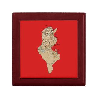 Tunisia Map Gift Box