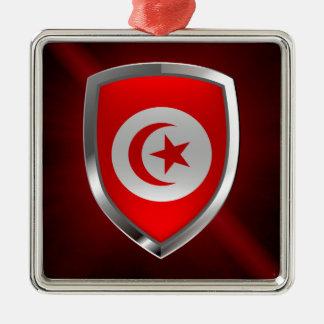 Tunisia  Metallic Emblem Metal Ornament