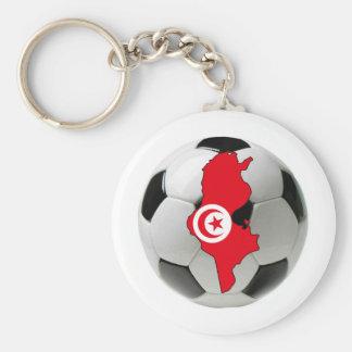 Tunisia national team basic round button key ring