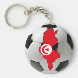 Tunisia national team basic round button key ring