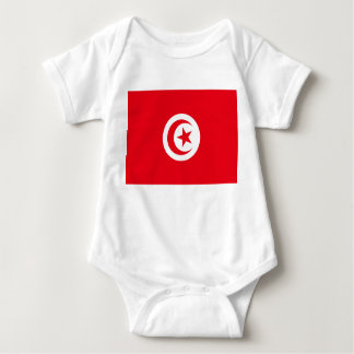 Tunisia National World Flag Baby Bodysuit