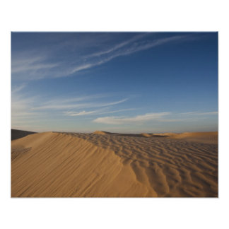 Tunisia, Sahara Desert, Douz, Great Dune, dusk Poster