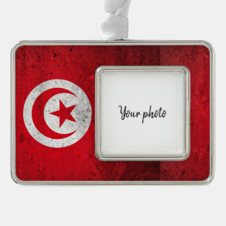 Tunisia Silver Plated Framed Ornament