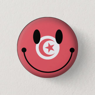 Tunisia Smiley 3 Cm Round Badge
