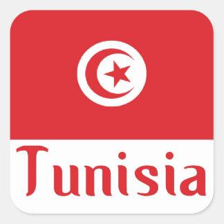 Tunisia Square Sticker