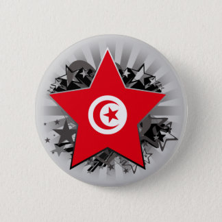 Tunisia Star 6 Cm Round Badge