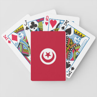Tunisian flag bicycle playing cards