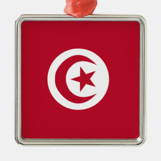 Tunisian flag metal ornament
