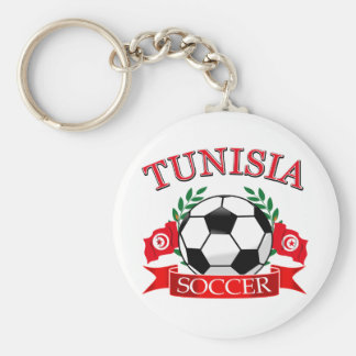 Tunisian Soccer Designs Basic Round Button Key Ring