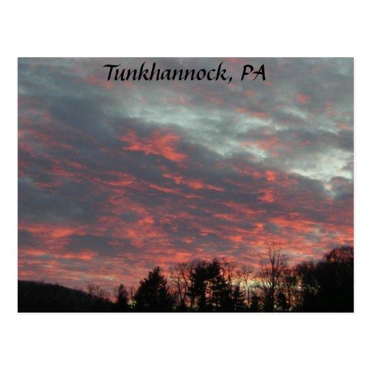Tunkhannock Sunset Sky Postcard