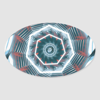 Tunnel Abstract Oval Sticker
