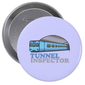 TUNNEL INSPECTOR 10 CM ROUND BADGE