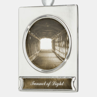 Tunnel of Light Silver Plated Banner Ornament