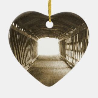 Tunnel of Light Ceramic Heart Decoration