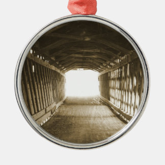 Tunnel of Light Silver-Colored Round Decoration