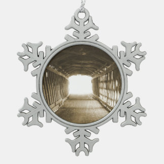 Tunnel of Light Pewter Snowflake Decoration
