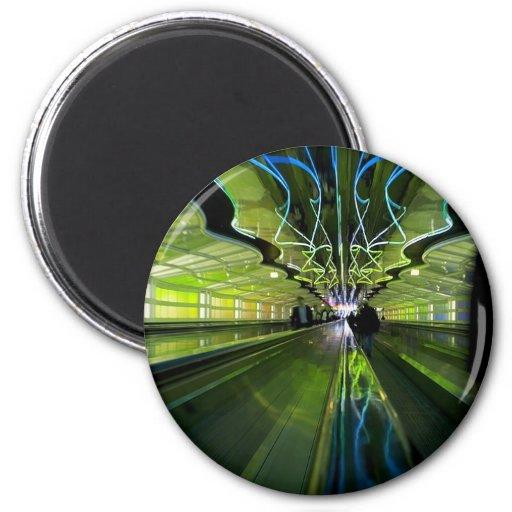 Tunnel of Lights Fridge Magnets