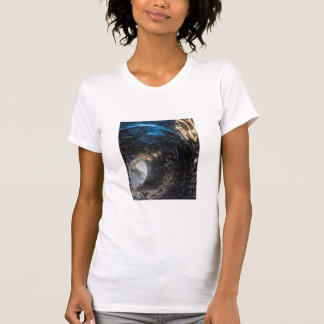 Tunnel thorugh an ice cave, iceland T-Shirt