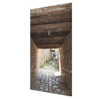 Tunnel Through Alley, Lahic Canvas Print