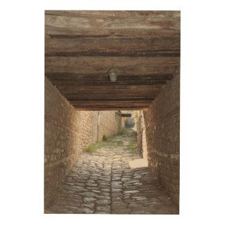 Tunnel Through Alley, Lahic Wood Wall Decor