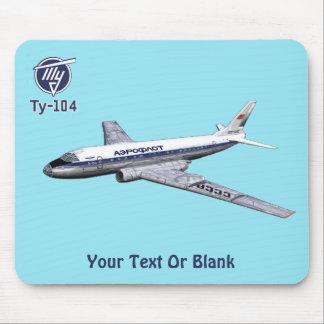 Tupolev (Туполев) Tu-104 Airliner Mouse Pad