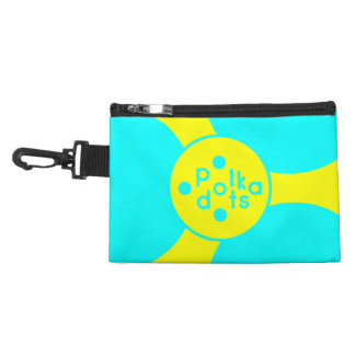 Tuquoise and Sunshine Yellow Clip on Accessory Ba Accessory Bag