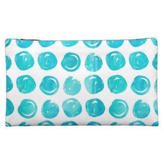 Tuquoise Watercolor Medium Cosmetic Bag