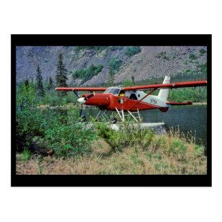 Turbine Beaver N754 Floatplane on Lake Postcard
