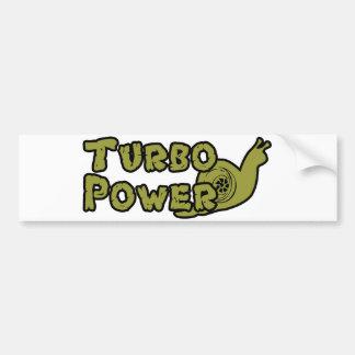 Turbo Power Bumper Sticker
