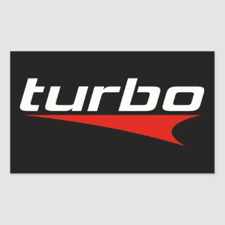Turbo Rectangular Sticker